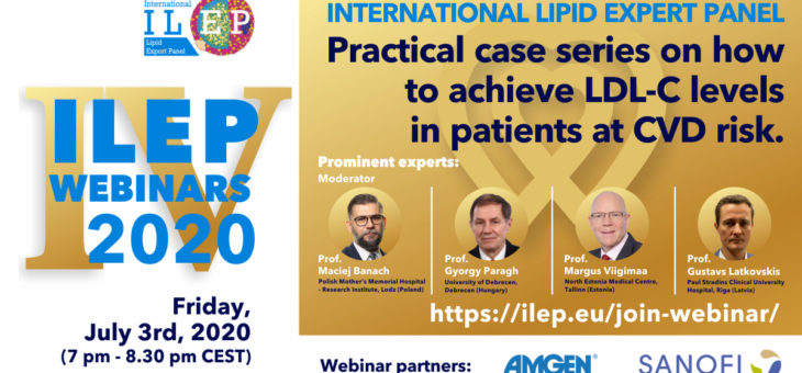 The International Lipid Expert Panel (ILEP) Webinars has successfully ended!